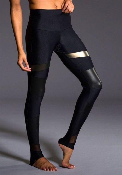 ONZIE 280 Sexy Yoga Workout Leggings Bondage Khaki