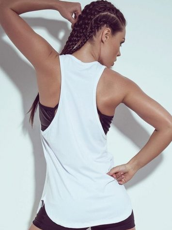 SUPERHOT Sexy Workout Tops Cute Blouse BL773 Getting Stronger