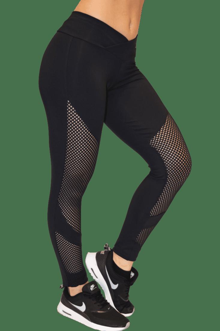 OXYFIT Leggings Looped 64053 BK- Sexy Workout Leggings