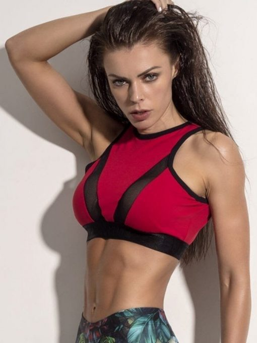 SUPERHOT MOVING RED TOP - TOP1084 - Sexy Workout Tops Cute Yoga Sport Bra