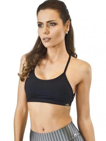 CAJUBRASIL Sports Bra 9058 Macrame BK Sexy Bra Top Yoga Bra