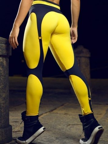 DYNAMITE Brazil Leggings L989-1004 Sunshine Sexy Workout Leggings