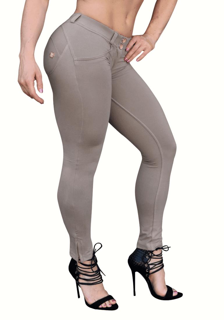 FREDDY WR.UP Shaping Effect - Low Waist - 7/8 Skinny Pants- Beige