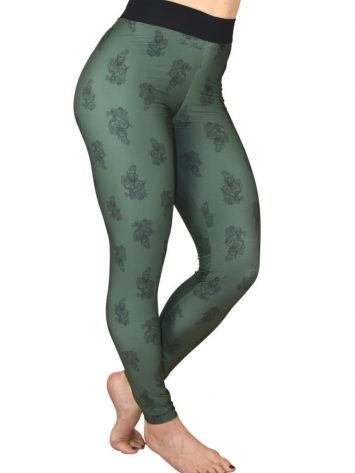 COLCCI FITNESS Leggings 25700215 Dragon Green Print