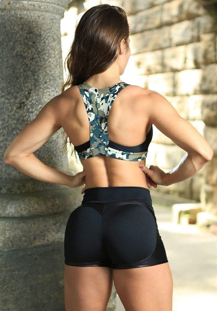 DYNAMITE Shorts SH2094  Black Butt Heart-Sexy Shorts