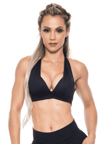 BOMBSHELL BRAZIL Sports Bra Bulge – Black -Sexy Workout Top