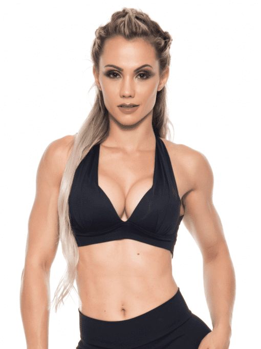 BOMBSHELL BRAZIL Sports Bra Bulge - Black -Sexy Workout Top