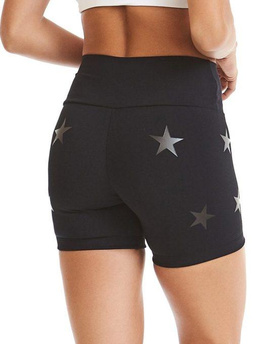 CAJUBRASIL Shorts 9604 Knockout Stars Black - Sexy Yoga Shorts- Brazilian