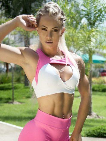 BOMBSHELL BRAZIL Sports Bra JUJU PINK -Sexy Workout Top