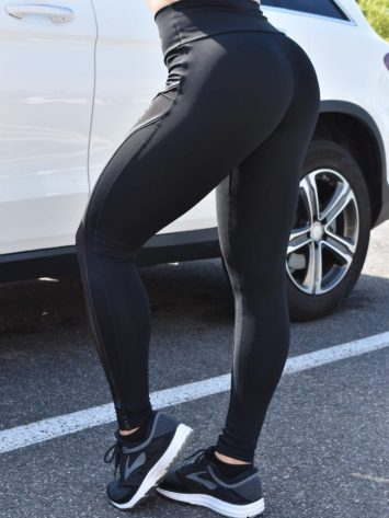 OXYFIT Leggings Cross 64134 Black- Sexy Workout Leggings