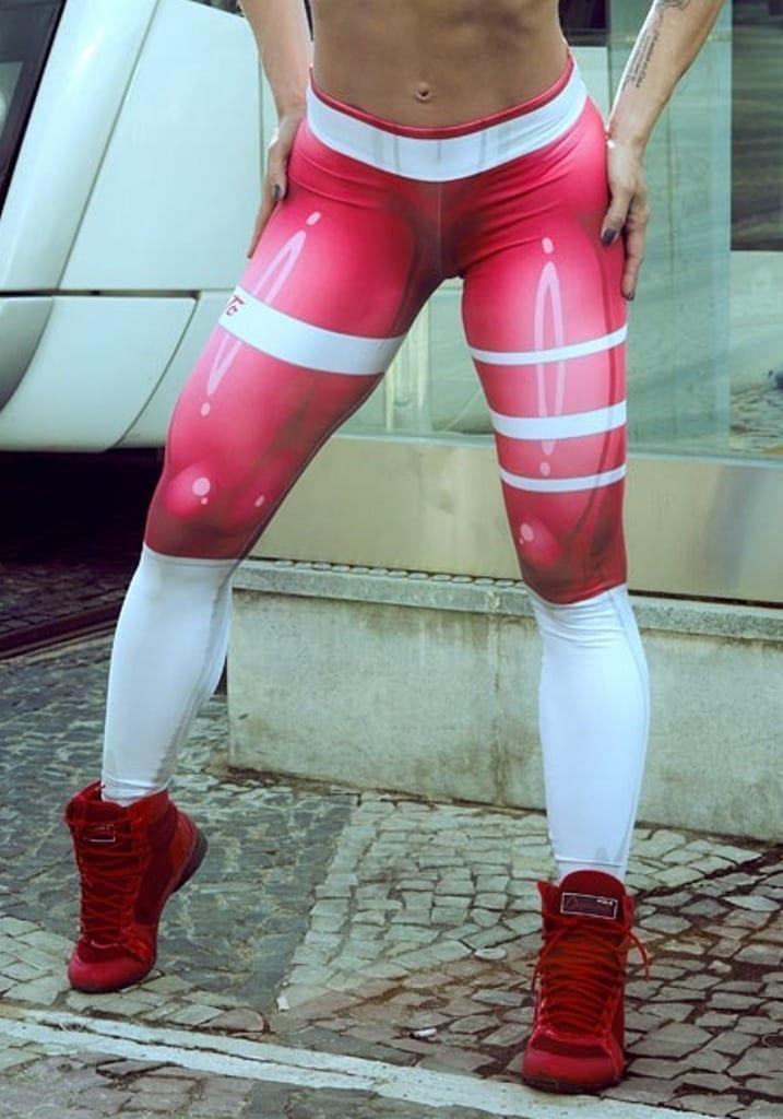 DYNAMITE Brazil Leggings L400 Red Mercury - Sexy Workout Leggings