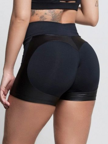 OXYFIT Shorts Heart Butt Cloud 21243 Black- Sexy Workout Shorts-Booty Shorts