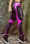 DYNAMITE Brazil Leggings L989 Black Pink Corset Legging