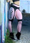 DYNAMITE Brazil Leggings L989 Black Baby Pink Corset Legging