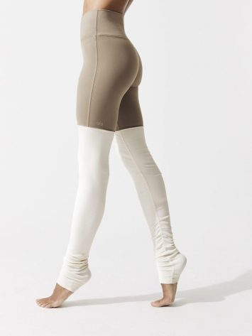 ALO Yoga Goddess Legging High Waisted Sexy Yoga Leggings Gravel/Pristine
