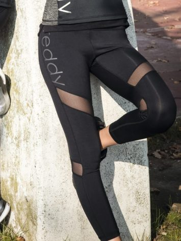 FREDDY WR.UP Superfit ankle-length freddy leggings w/tulle-effect inserts – SF5HF811
