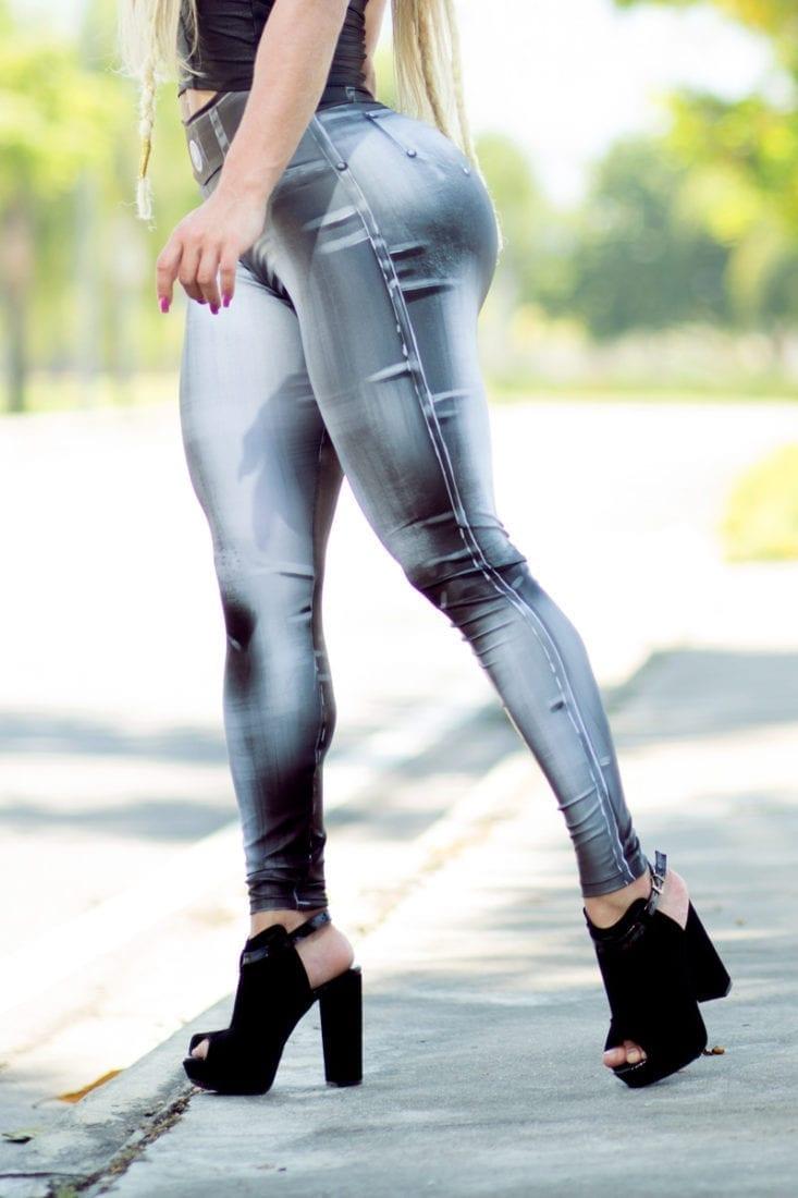 DYNAMITE BRAZIL Leggings L400 Denim Bodypaint Black-Sexy Workout Legging
