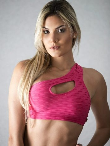 Top Unilateral Rose – Sports Bra