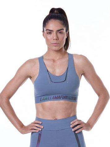 LabellaMafia Sports Bra Fineluxe Blue – TCL33037