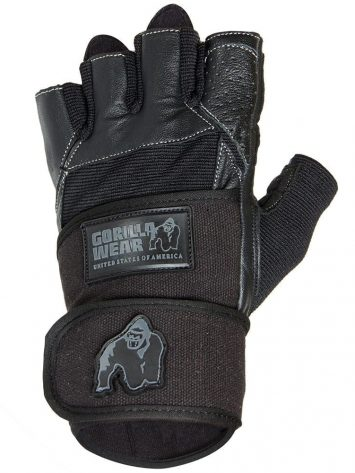Gorilla Wear – Dallas Wrist Wrap Gloves – Black