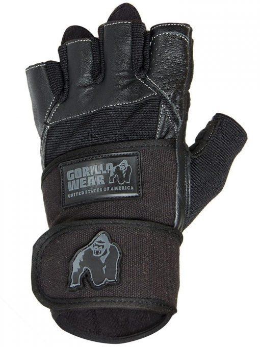 Gorilla Wear - Dallas Wrist Wrap Gloves - Black