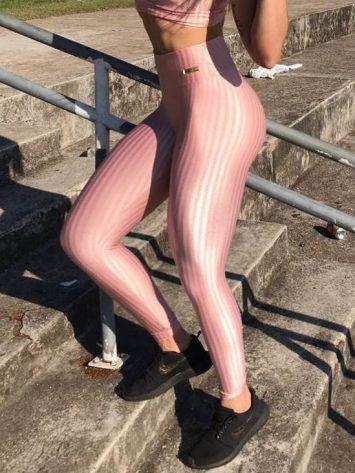 BFB Leggings – Cirre 3D Metalizada – Rose