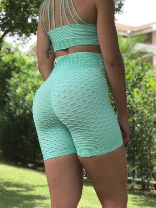 Scrunchie Butt Shorts- Brocade Butt - Scrunchie - Mint