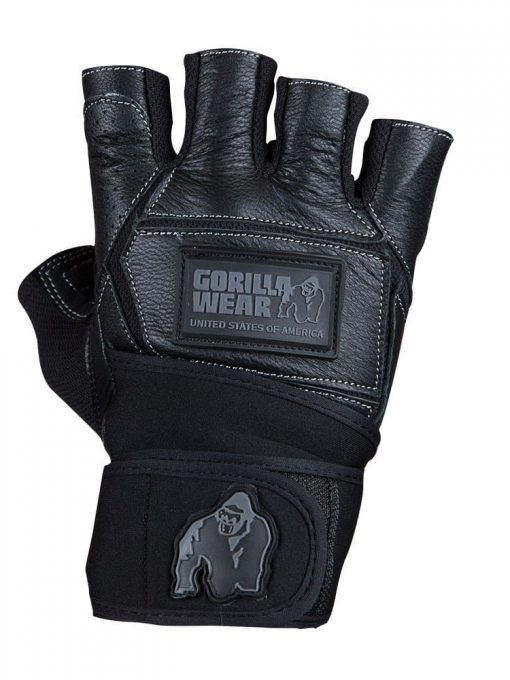 gorilla wear Hardcore Wrist Wraps Gloves Black