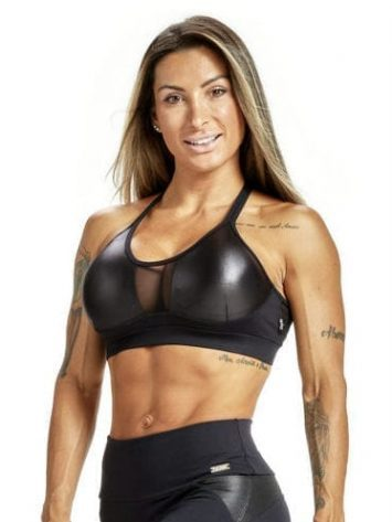 OXYFIT Sports Bra Top Iron – 27229 Black – Sexy Sports Bra