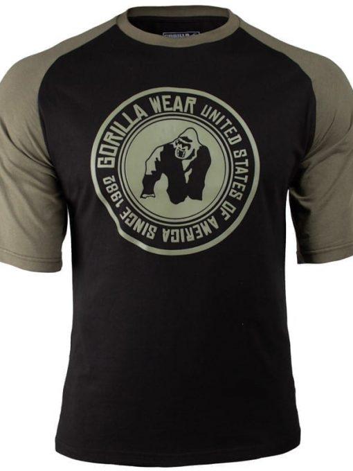 Gorilla Wear Texas T-shirt - Army-Blacky-green-3.png