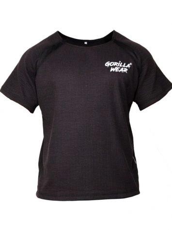 Gorilla Wear Augustine old school workout top – black