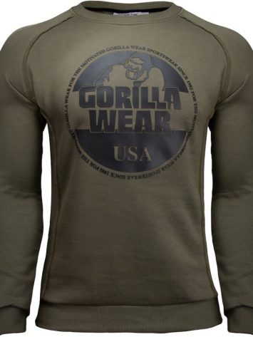 Gorilla Wear Bloomington Crewneck Sweatshirt – army green