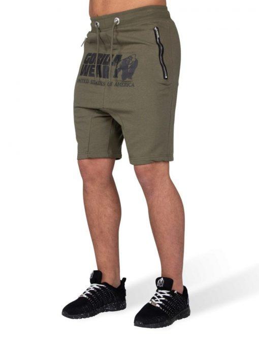 Gorilla Wear Alabama Drop Crotch Shorts - Army