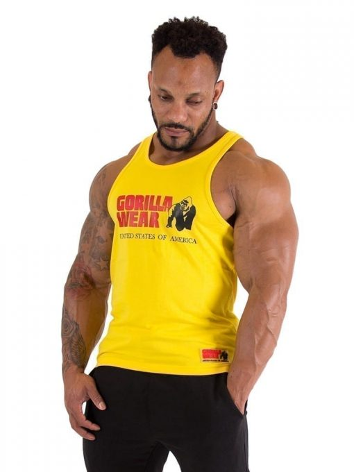 Gorilla Wear Classic Tank Top - Yellow