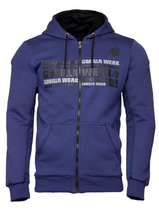 Gorilla Wear Bowie Mesh Zipped Hoodie - Navy