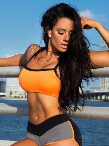 CANOAN Sports Bra TOP 07861 Orange - Sexy Workout Tops