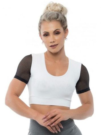 BFB Activewear Cropped Dolce Screen – white