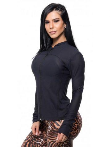 BFB Activewear Gym Jacket – Black