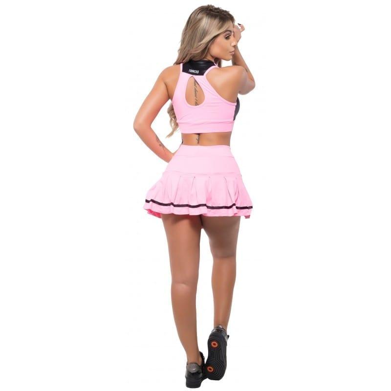 BFB Activewear JuJu Top & Skort Set - Pink