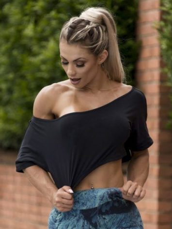 BFB Activewear Cropped Top Stylish loose fit – Black
