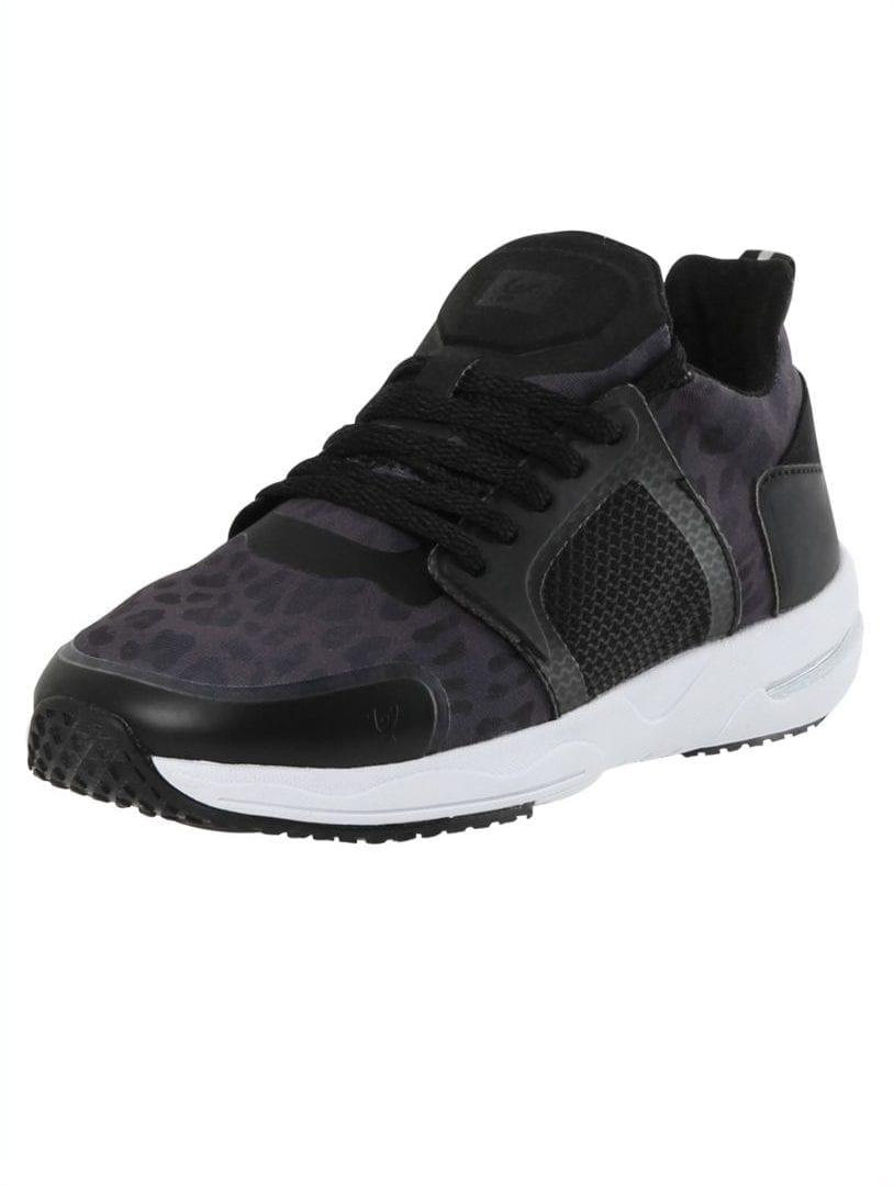 Freddy Fitness Footwear - Feline 2.0 Leopard Print Sport Shoe - black
