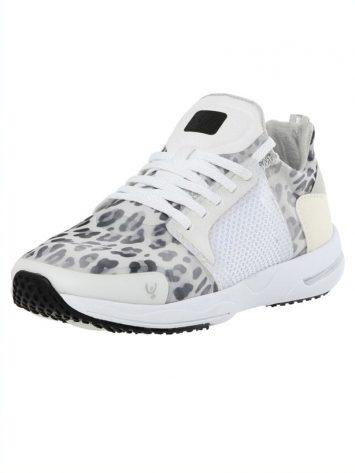 Freddy Fitness Footwear – Feline 2.0 Leopard Print Sport Shoe – white