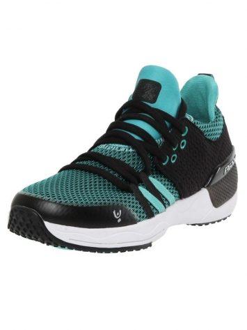 Freddy Fitness Footwear – Feline Skinair Active Breathability Sport Shoe – Black/Cyan