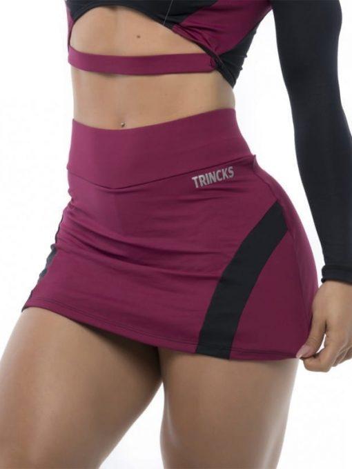 BFB Activewear Skort Skirt Dolce Shape - Marsala