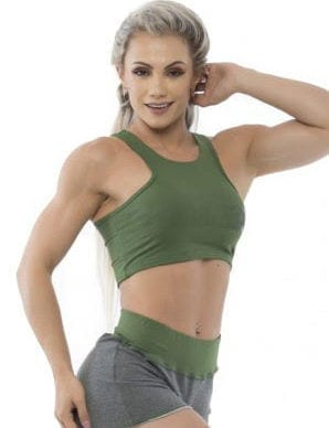 BFB Activewear Tank Top Cropped Power Fit – Green