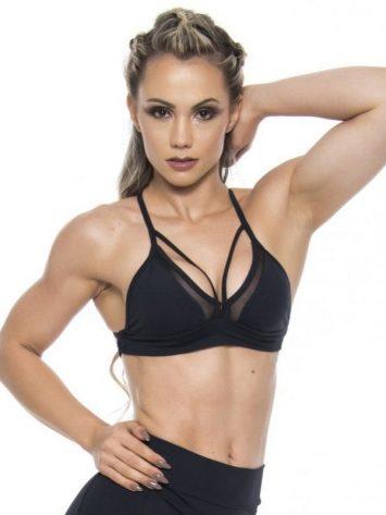 BFB Activewear Sports Bra Top Hot Girl – Black