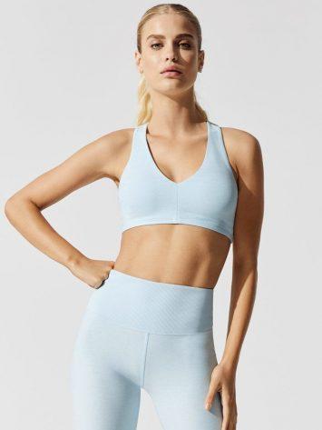 ALO Yoga Alosoft Base Sports Bra – W9238R – Powder Blue Heather