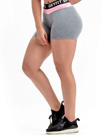 Shorts Intensity 21262 Grey Heather Rosa Yogurte- Sexy Workout Shorts-Booty Shorts