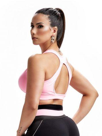 Sports Bra Top Dynamic 27242 Rosa Yogurte – Sexy Sports Bra