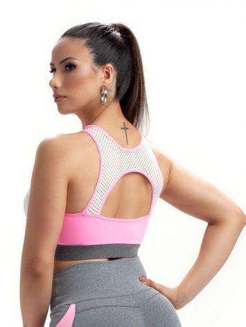 Sports Bra Top Vox 27244 White Pink – Sexy Sports Bra